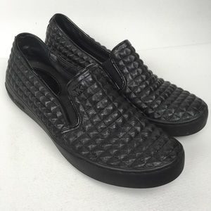MICHAEL Michael Kors Sz 6M Black Leather Sneakers